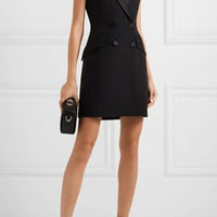 Alexander McQueen - Double-breasted crepe tuxedo mini dress