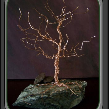 wire tree,tree of life,copper tree,home decor,tree sculpture,trees,nature art,office decor,zen art,sculpture,mother,fathers day gift idea