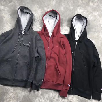 Champion Fashion Embroidery Hoodie Top Sweater