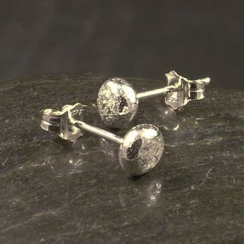 Upcycled Silver Earrings / Handcast Argentium by MetalRocks