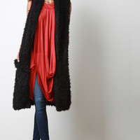 Faux Shearling Fur Long Vest