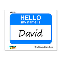 David Hello My Name Is Sticker