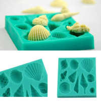 Silicone 3D Seashell Beach Shells Cake Molds Chocolate Mould Decoration-#isps