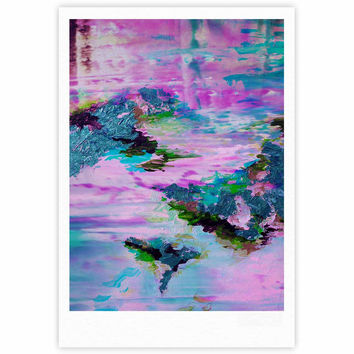 "Ebi Emporium ""On Cloud Nine - 4"" Pink Teal Fine Art Gallery Print"