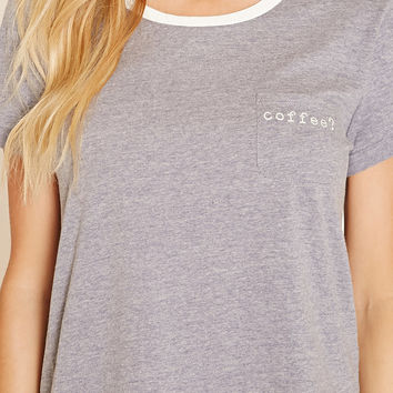 Coffee Heathered PJ Tee