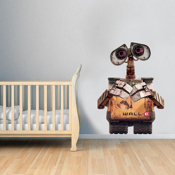 Wall-e Decal - Wall-e Movie Decal Hero Printed and Die-Cut Vinyl Apply in any Flat Surface- Wall-e Decor