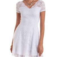 All-Over Lace Skater Dress by Charlotte Russe