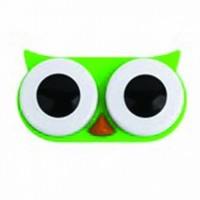 Kikkerland Retro Owl Contact Lens Case-Green