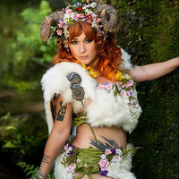 Entire Maenad Horned Faerie Costume Ensemble