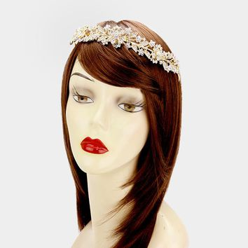 Wedding Crown and hair piece #W339726 - CLOSEOUT