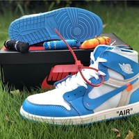 The 10: Off White X Nike Air Jordan 1 Blue/white Sneaker | Best Deal Online