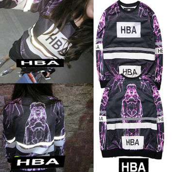 Brand Hood By Air HBA Hoodie Men Women 3M Reflective Harajuku Sweatshirts Hip Hop Religious Y e ezy HBA Couple Hoodies