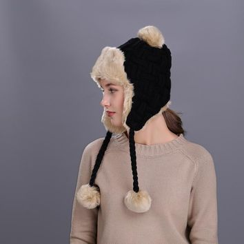 Bomber Hats for ladies winter with earflap