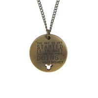 Disney Walt Disney Quote Necklace