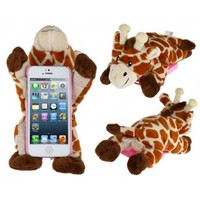 PC Plastic & Plush Rotary 3D Plush Giraffe Protective Case for iPhone 5