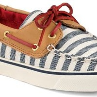 Sperry Top-Sider Bahama Breton Stripe 2-Eye Boat Shoe Navy/Cognac, Size 8M  Women's Shoes