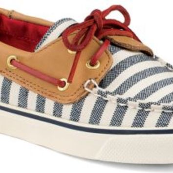 Sperry Top-Sider Bahama Breton Stripe 2-Eye Boat Shoe Navy/Cognac, Size 5.5M  Women's Shoes