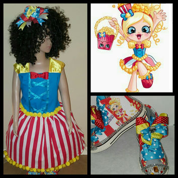 Limited Edition Shopkins Birthday Tutu Outfit Set POPPY CORN