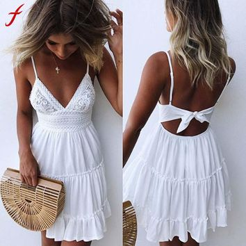 Women Backless Summer Sundress