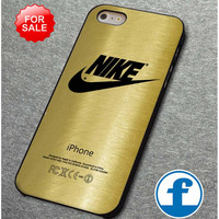 Nike Logo Gold Texture Print on Hard Cover for iphone, ipod, samsung galaxy, HTC and Nexus Phone Case
