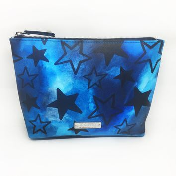 Stars Saffiano Small T Bottom Cosmetic Bag