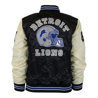 Women's Detroit Lions Beverly Hills Edition Starter Jacket - Black/Cream