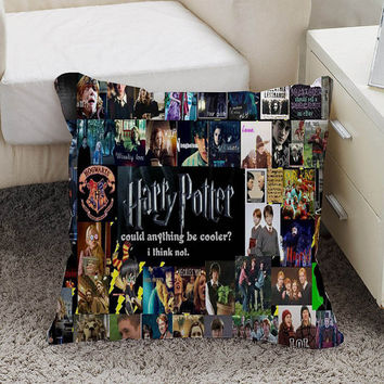 Harry potter collages Pillow case size 16 x 16, 18 x 18, 16 x 24, 20 x 30, 20 x 26 One side and Two side