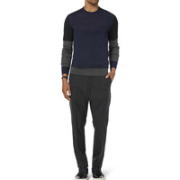 Neil Barrett - Colour-Block Wool Sweater | MR PORTER