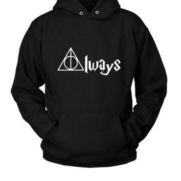 ESBP7V Always Deathly Hallows Harry Potter Hoodie Two Sided