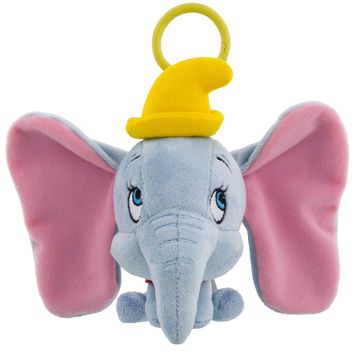 Disney Parks Dumbo Big Face Plush Keychain New with Tags