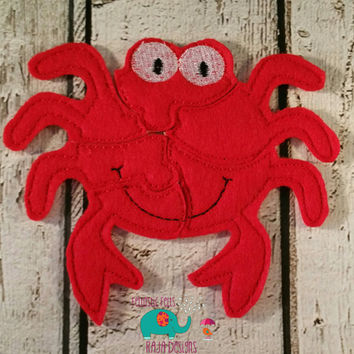 Felt crab puzzle embroidered embroidery, jigsaw puzzle, learning toy, activity, quiet game, kids toys, montessori, homeschool, busy book
