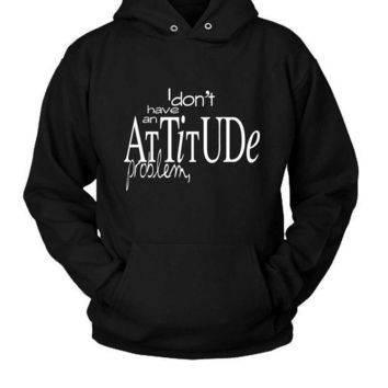 ICIK7H3 Attitude Quotes (2) Hoodie Two Sided