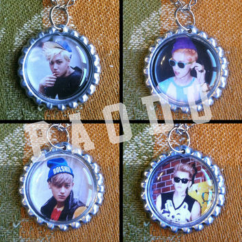 EXO Members (Growl Teaser Images) Bottle Cap Necklace KPOP (12 Styles)