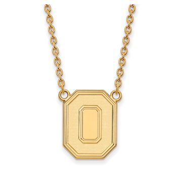 NCAA 14k Yellow Gold Ohio State Lg Logo Pendant Necklace