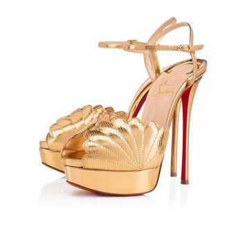 Botticella Alta 150 Gold Specchio/Laminato - Women Shoes - Christian Louboutin