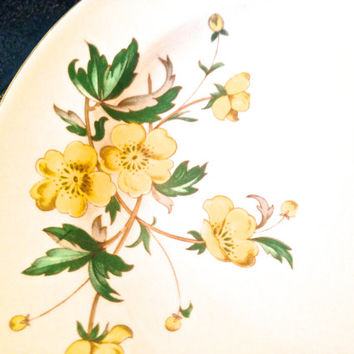 VINTAGE RING DISH - small plate replacement china - Knowles China Company U.S.A. - fine china - Buttercup pattern - jewelry gift idea