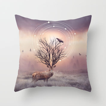 In the Stillness Throw Pillow by Soaring Anchor Designs   Society6