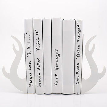 Bookends - Deer horns - laser cut for precision sturdy metal bookends