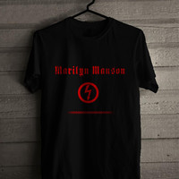 Marilyn Manson Red Logo Marilyn for man and woman shirt / tshirt / custom shirt