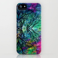 Luminous Tree Rorschach  iPhone Case by Caleb Troy | Society6