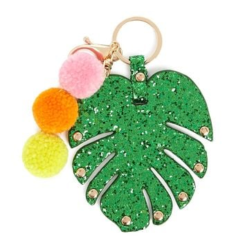 Tropical Leaf Keychain