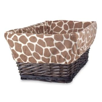 Lambs & Ivy® Peek-a-Boo Jungle Basket with Liner