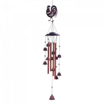 Rooster Bell Wind Chimes (pack of 1 EA)