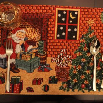 Tache Festive Last Minute Preparations Tapestry Placemats
