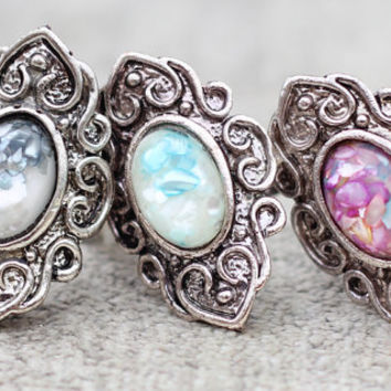 Moonstone Majesty Ring Silver Vintage Antique Style by SHOPCOOLIE