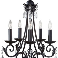 "0-026540>18""w Nadia 5-Light Chandelier Black"