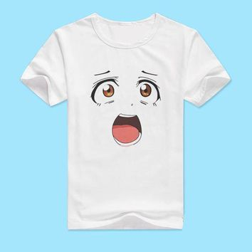 LoveLive T-shirt Attractive Women T Shirt Anime Big Eye Love Live Cotton Tshirt Fashion Clothing Men Women Tees