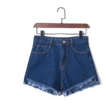 High Waist Stretchable Denim Shorts
