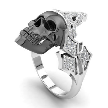 Skull Queen Engagement Ring