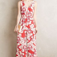 Paper Crown Costa Mesa Jumpsuit in Red Motif Size: